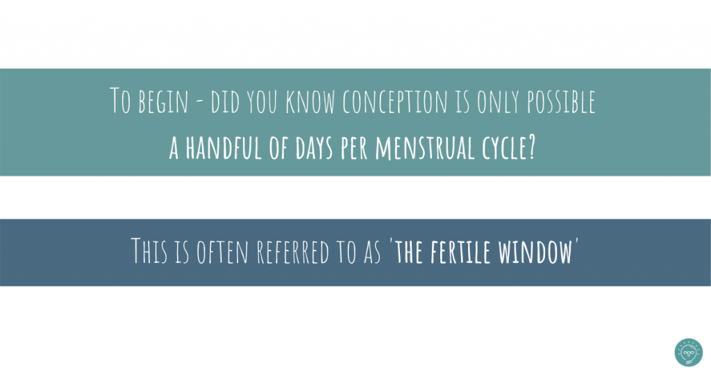 conception can happen only a few days per menstrual cycle